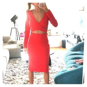 NEVER USED! Sexy Red stretchy cocktail dress